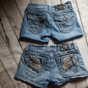 2prs Miss Me short shorts sz 28 and 26